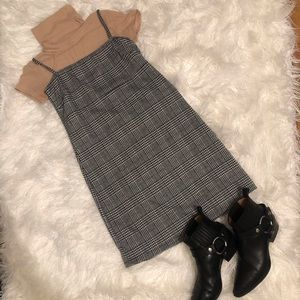 Dresses & Skirts - Glen Plaid Mini Dress Double knit Bodycon